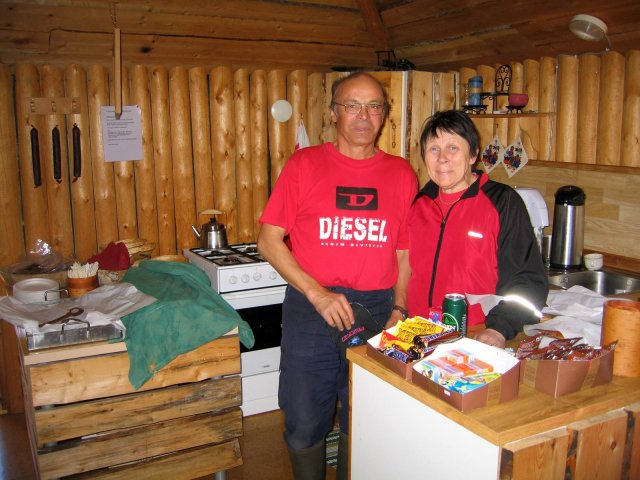 "Acke and Siv Kuoljok, owners and operators of ""Pietsjaure Sijdda"" (village) Café and boat rentals"