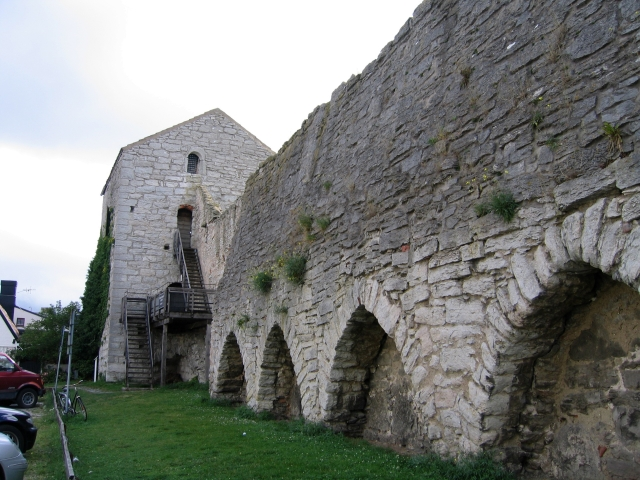 Part of the old city wall in Wisby (Visby), Gotland